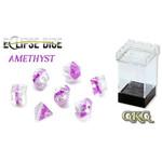 Gate Keeper Games Amethyst Eclipse 7-Die Polyhedral Set