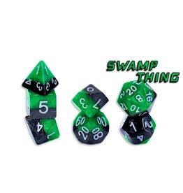 Gate Keeper Games Swamp Thing Halfsies 7-Die Polyhedral Set