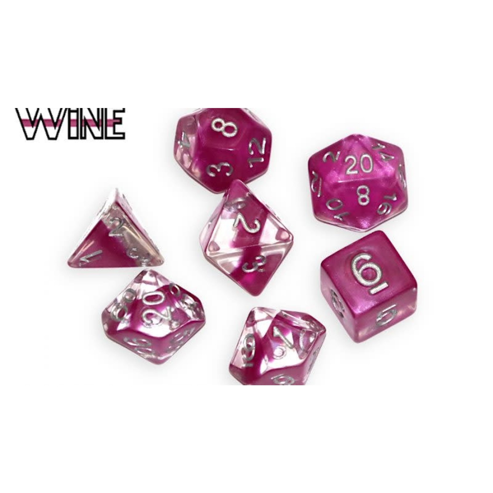 Gate Keeper Games Wine Neutron 7-Die Polyhedral Set