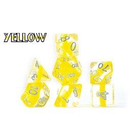Gate Keeper Games Yellow Neutron 7-Die Polyhedral Set