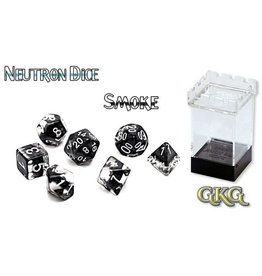 Gate Keeper Games Smoke (Black) Neutron 7-Die Polyhedral Set