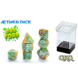 Gate Keeper Games Ork York Aether 7-Die Polyhedral Set