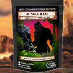 Geek Grind Jungle Haze - Reign of the King - Roasted Banana Foster Flavored Coffee