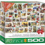 EuroGraphics Wildlife Vintage Stamps 500pc