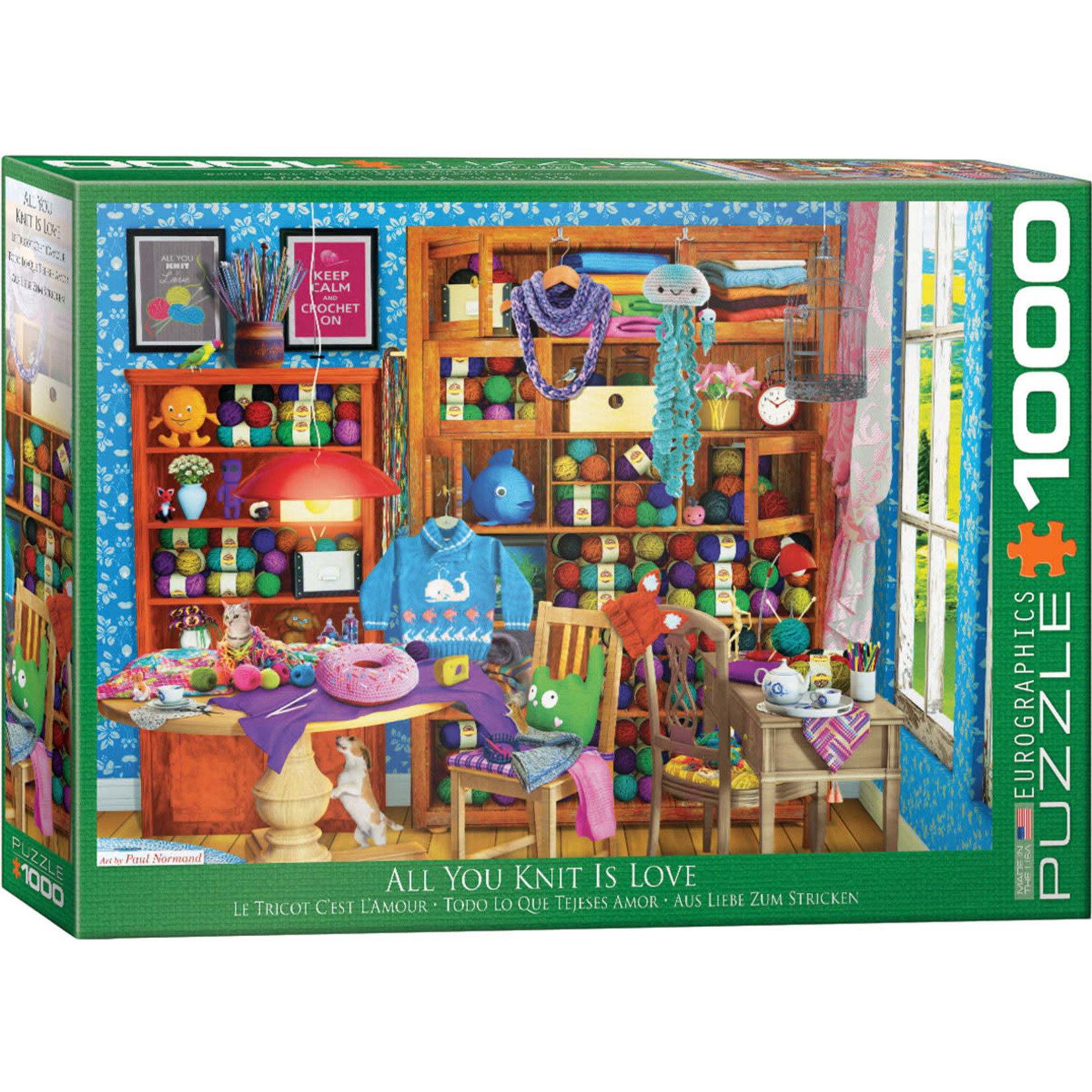EuroGraphics All you Knit is Love 1000pc