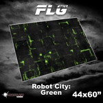Frontline Gaming FLG Robot City Green 44x60