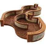 WIZKIDS/NECA WarLock Tiles: Town & Village III - Curves