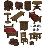 WIZKIDS/NECA D&D IotR The Yawning Portal Inn - Beds & Bottles