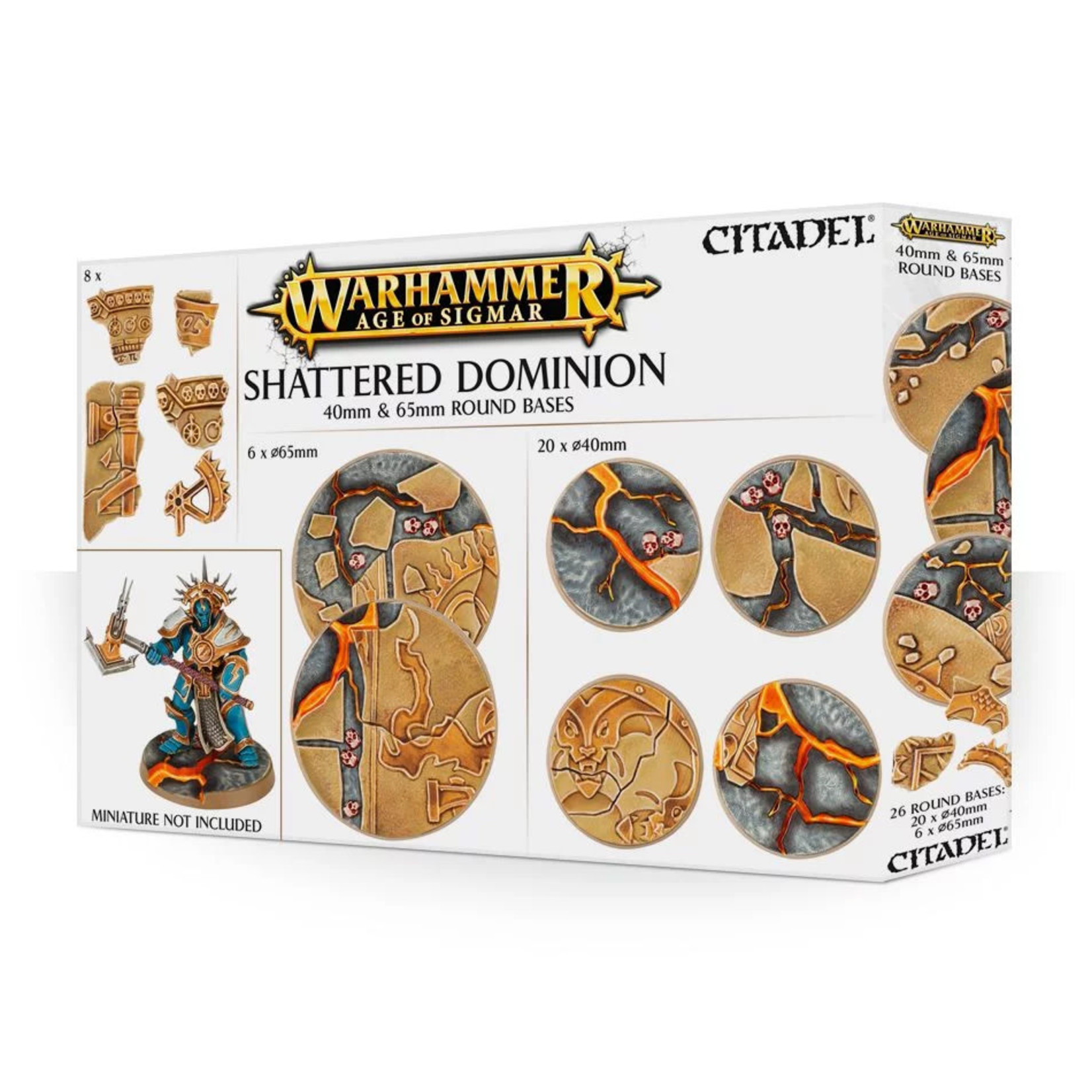 Games Workshop AoS Shattered Dominion 40 & 65mm round