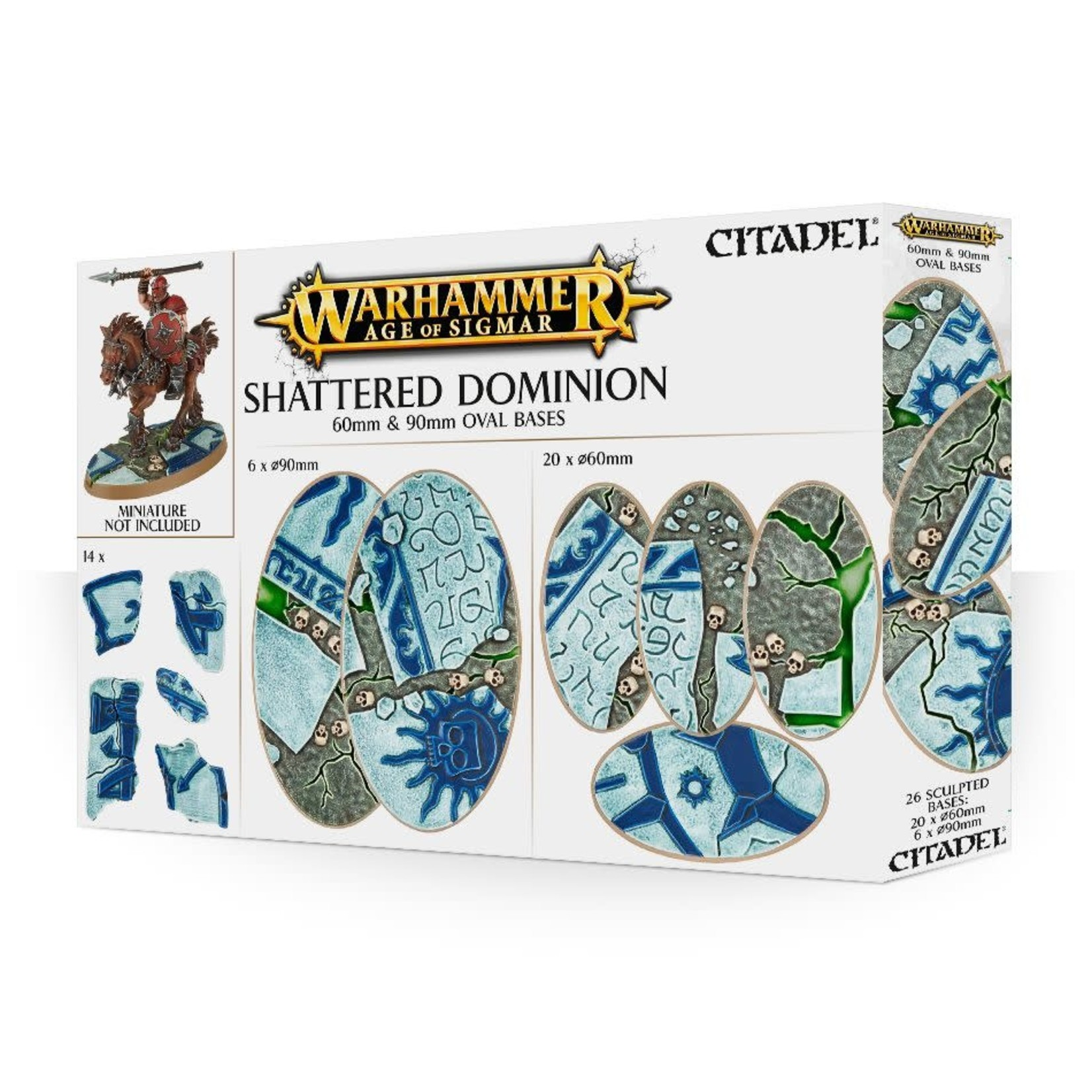 Games Workshop AoS Shattered Dominion 60 & 90mm Oval