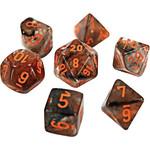 Chessex Lab Dice 4 Nebula: Poly Copper Matrix/orange Luminary