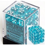 Chessex Translucent d6 Teal white 12mm (36)