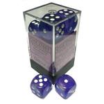 Chessex Borealis: Purple/white 16mm d6 (12)