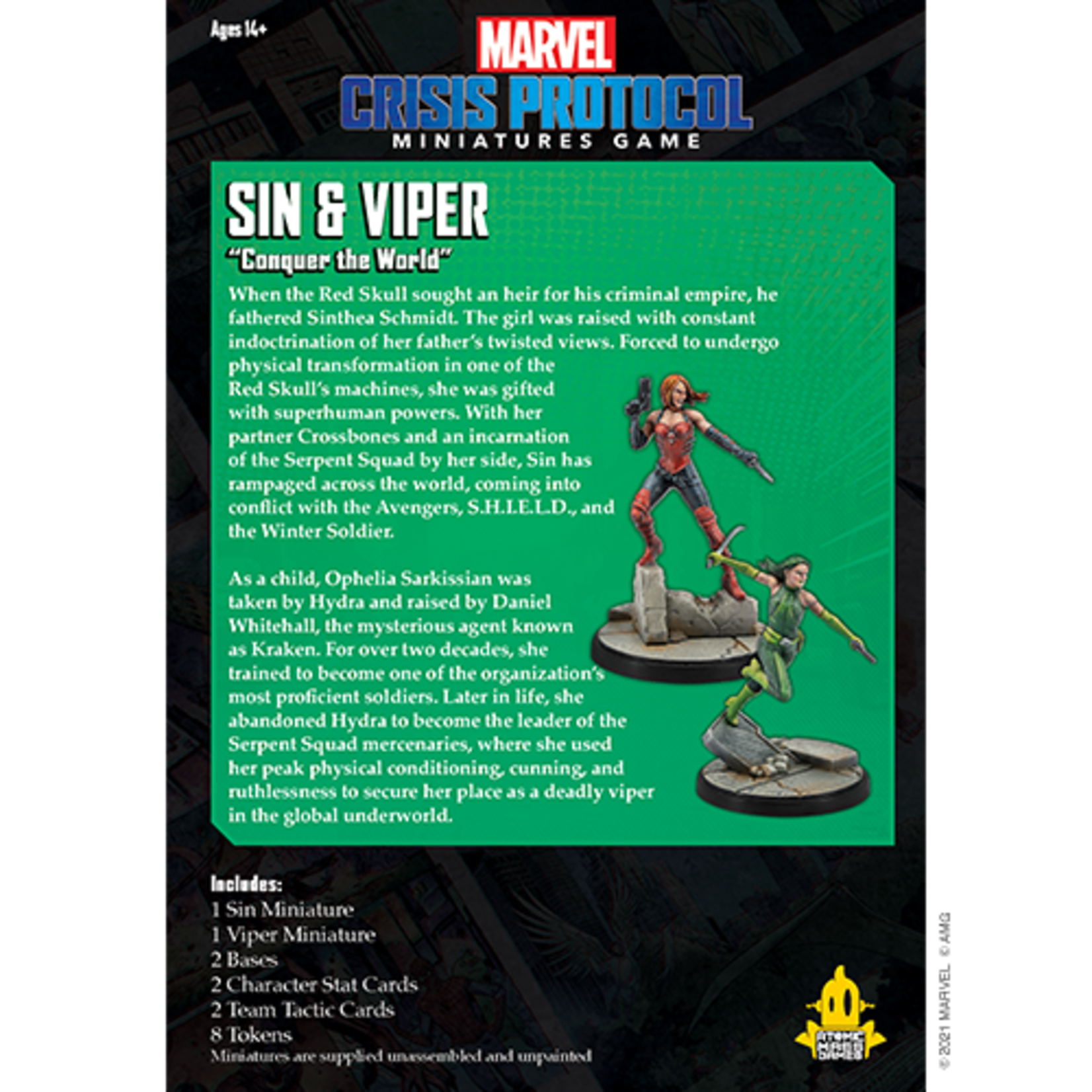Atomic Mass Games Marvel Crisis Protocol - Sin and Viper Character Pack