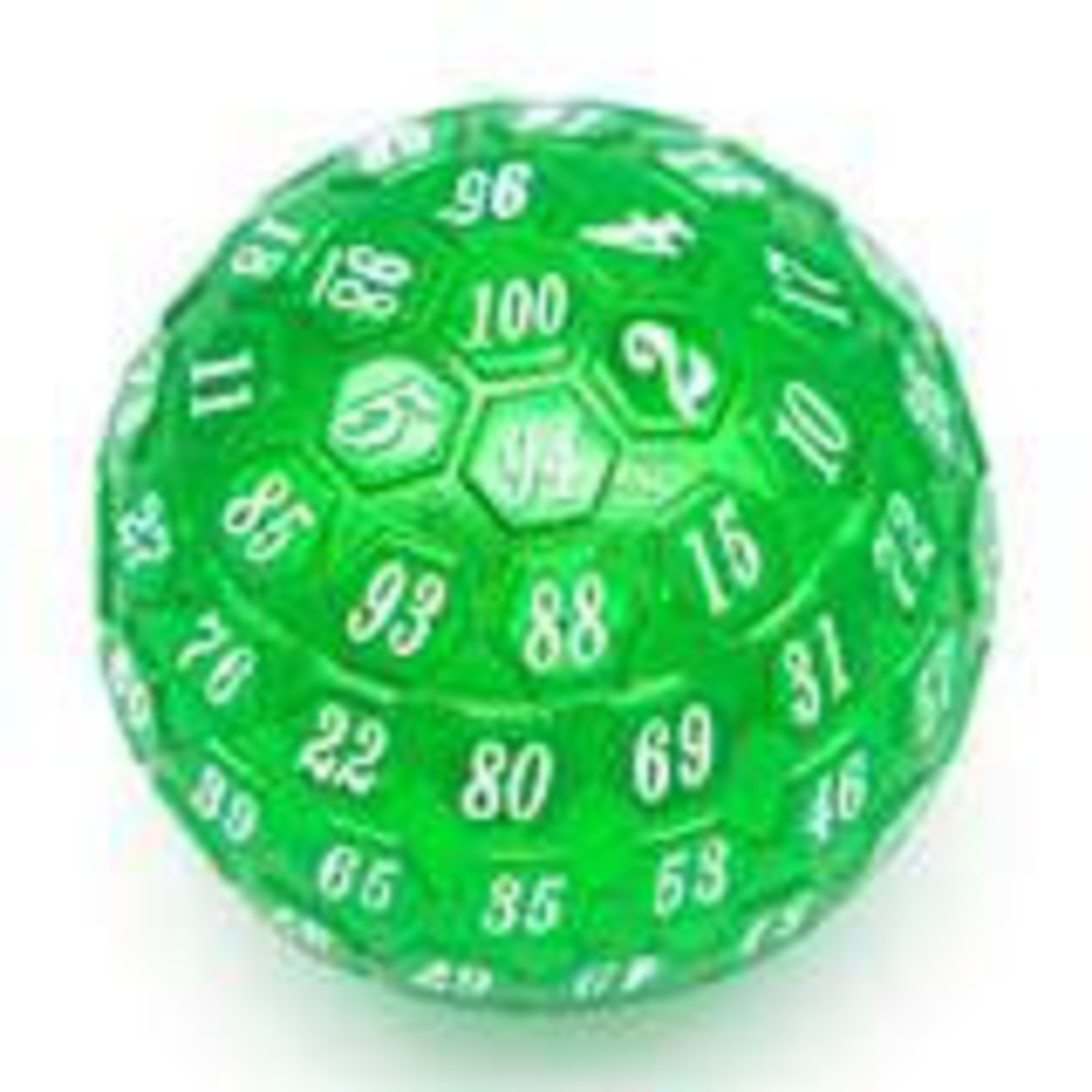 45mm Metal D100 - Green with White Font