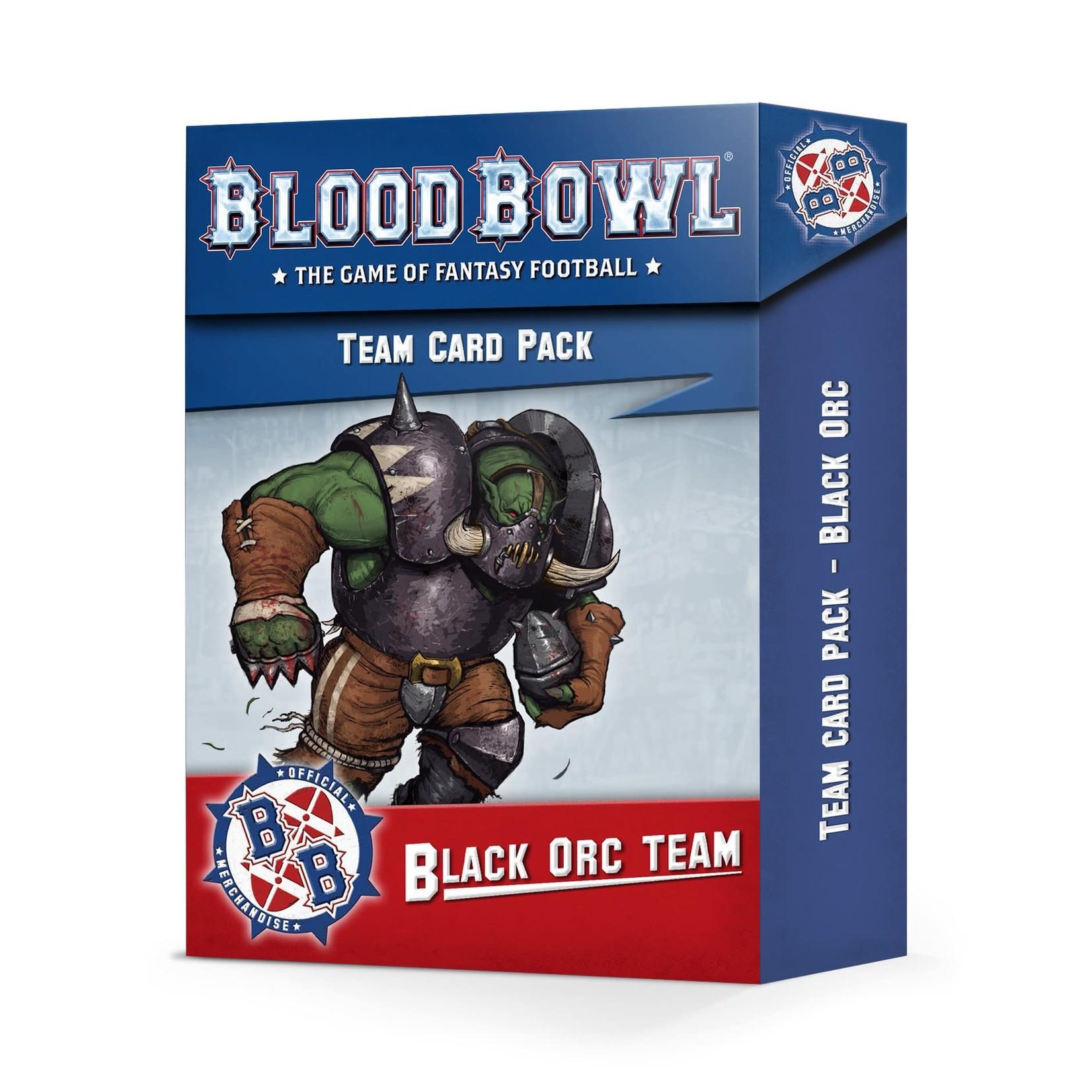 Games Workshop Blood Bowl Black Orc Team Card Pack