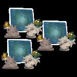 Draco Studios War for Chicken Island Cluckthulhu Yolk Sothoth Sea Rubber Mat KS