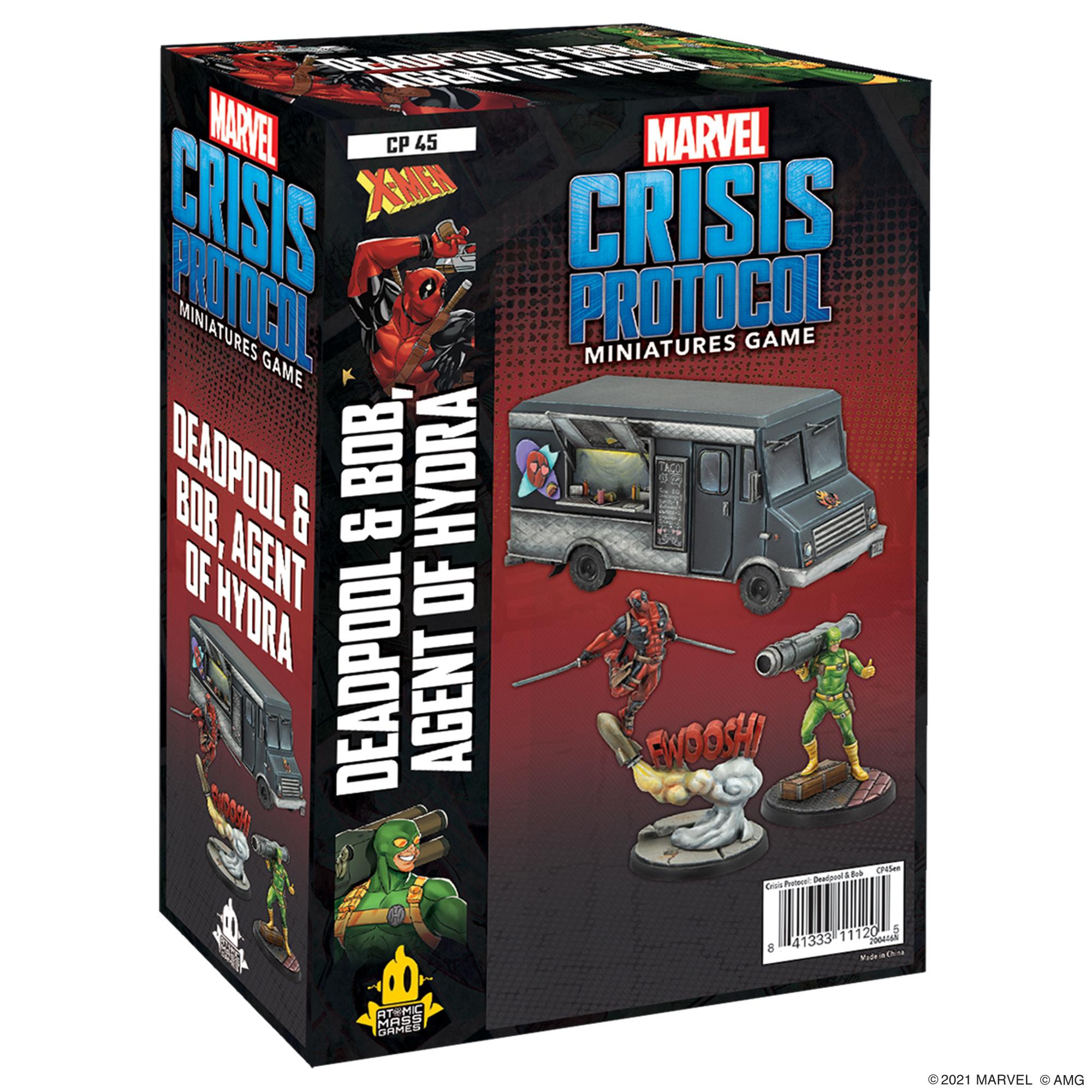 Marvel Crisis Protocol: Deadpool & Bob, Agent of Hydra Character Pack -  Recess Games LLC