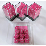 Chessex Opaque Pink/White 16mm d6 (12)