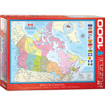 EuroGraphics Map of Canada 1000pc