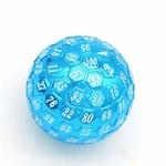 Foam Brain Games D100 Metal 45mm Blue White
