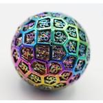 Foam Brain Games Hollow Dragon Head Metal d100 Burnt Opal