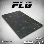 Frontline Gaming FLG Robot City Green 6x4' Mat