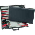 """Wood Expressions Backgammon 15"""" Black Suede"""