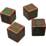 Ultra Pro D&D Heavy Metal Copper and Green D6 Dice Set