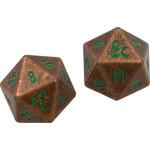 Ultra Pro D&D Heavy Metal Copper / Green d20 Dice Set