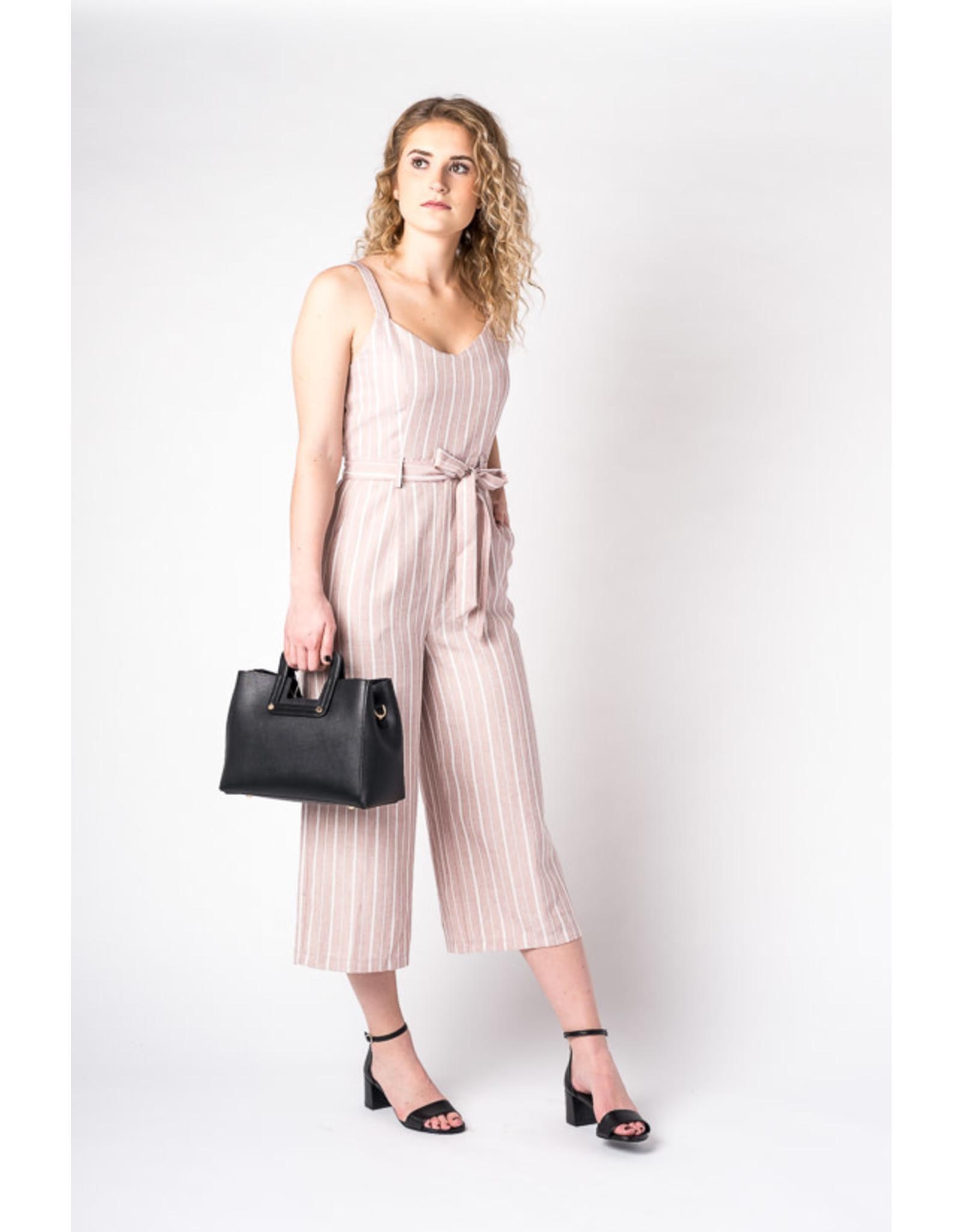 Papillon Striped sleeveless jumpsuit (pink)