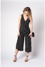 Papillon Striped wrap style jumpsuit