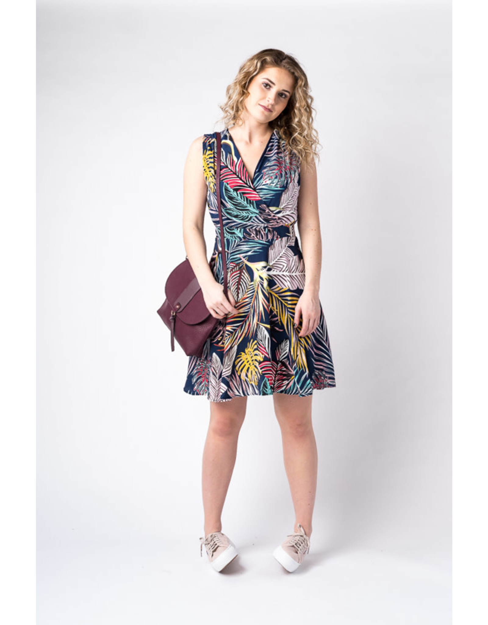 Papillon Fern print fit and flare dress