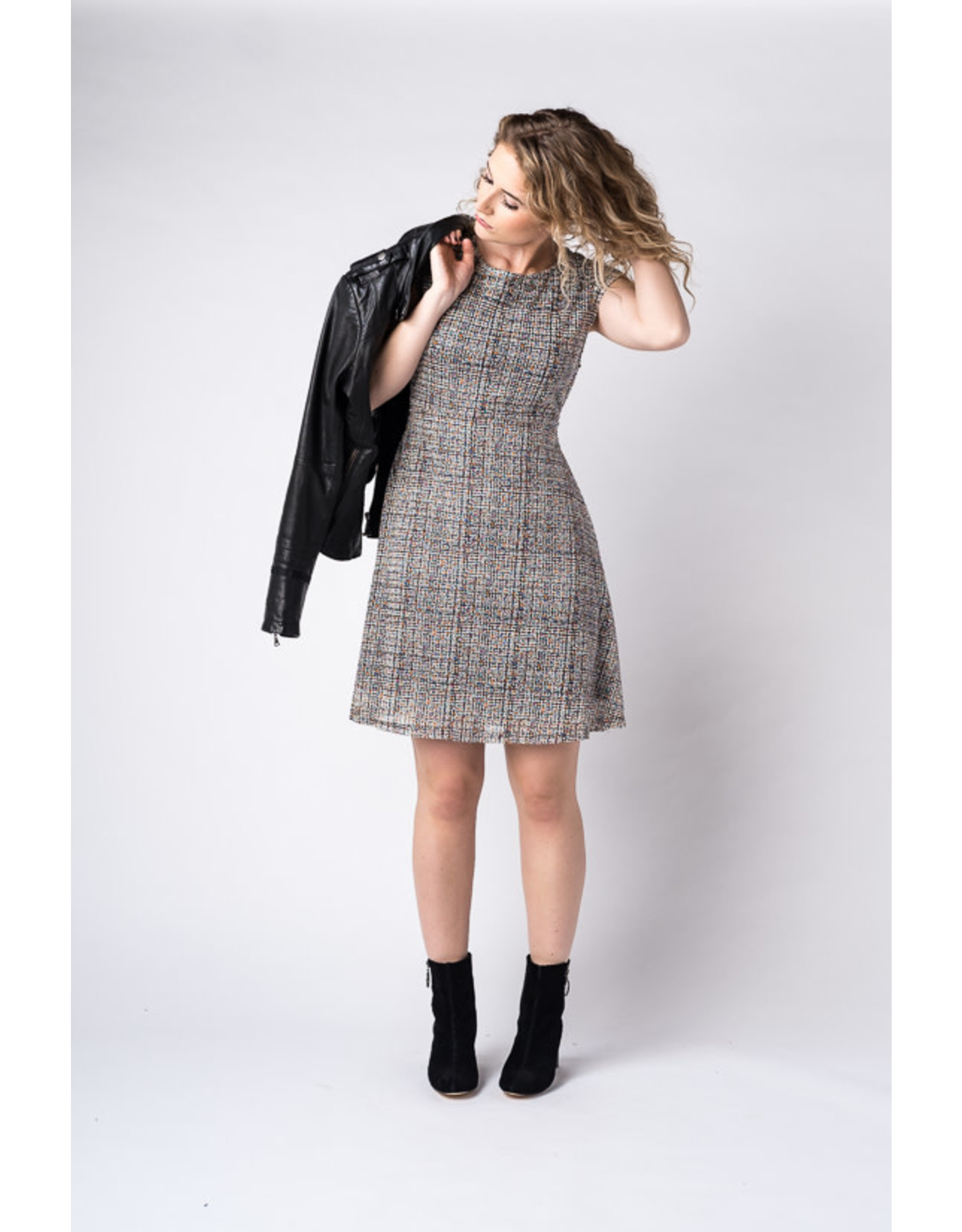 Papillon Knit dress with cap sleeves