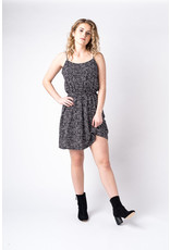 Papillon Geo print dress with elastic waist