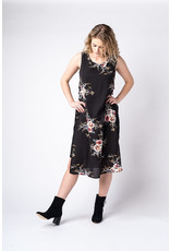 Papillon Stretch dress with floral overlay