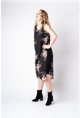 Papillon Papillon - Stretch dress with floral overlay