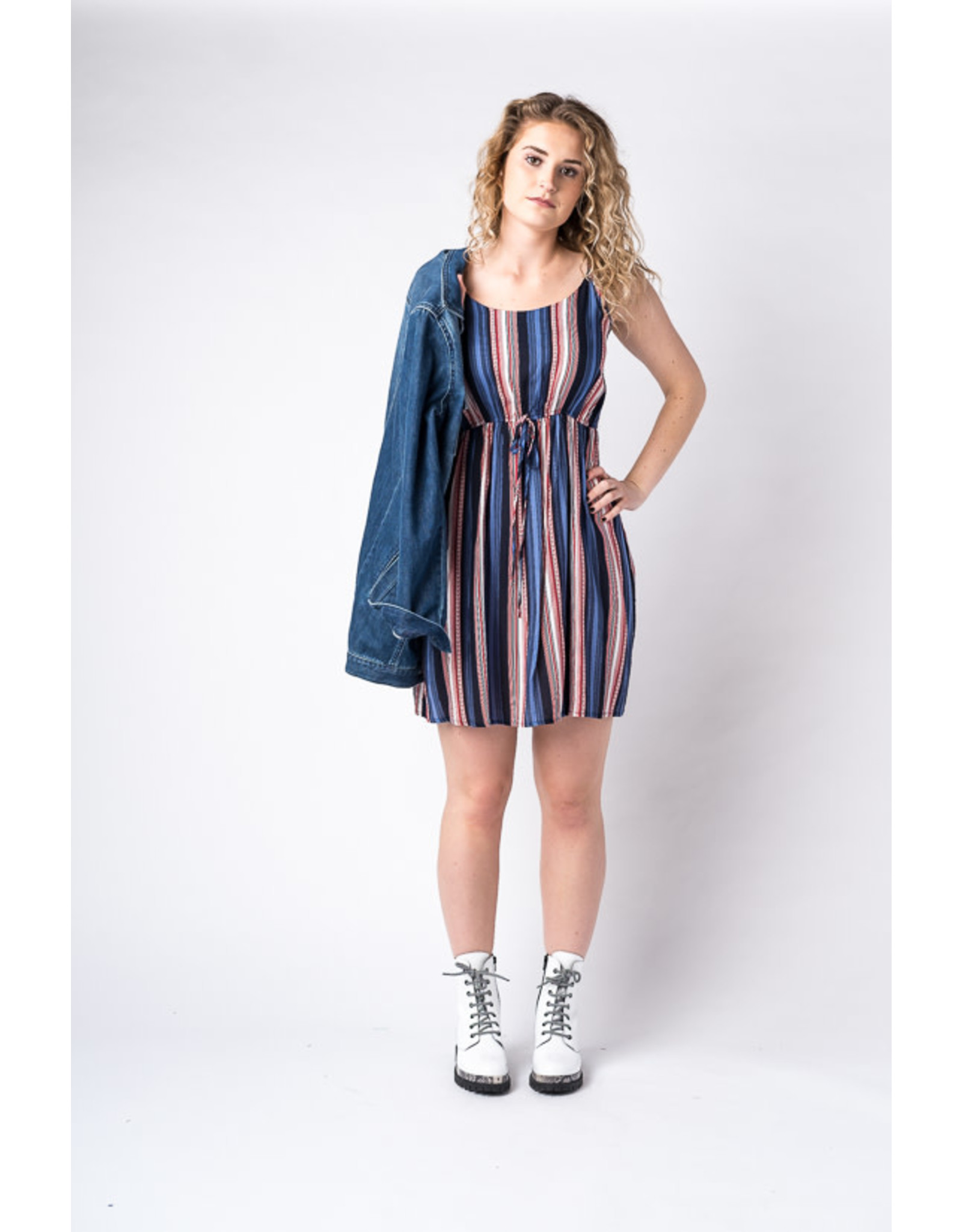 Papillon Striped dress with elastic waist