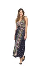 Papillon Scarf print maxi dress
