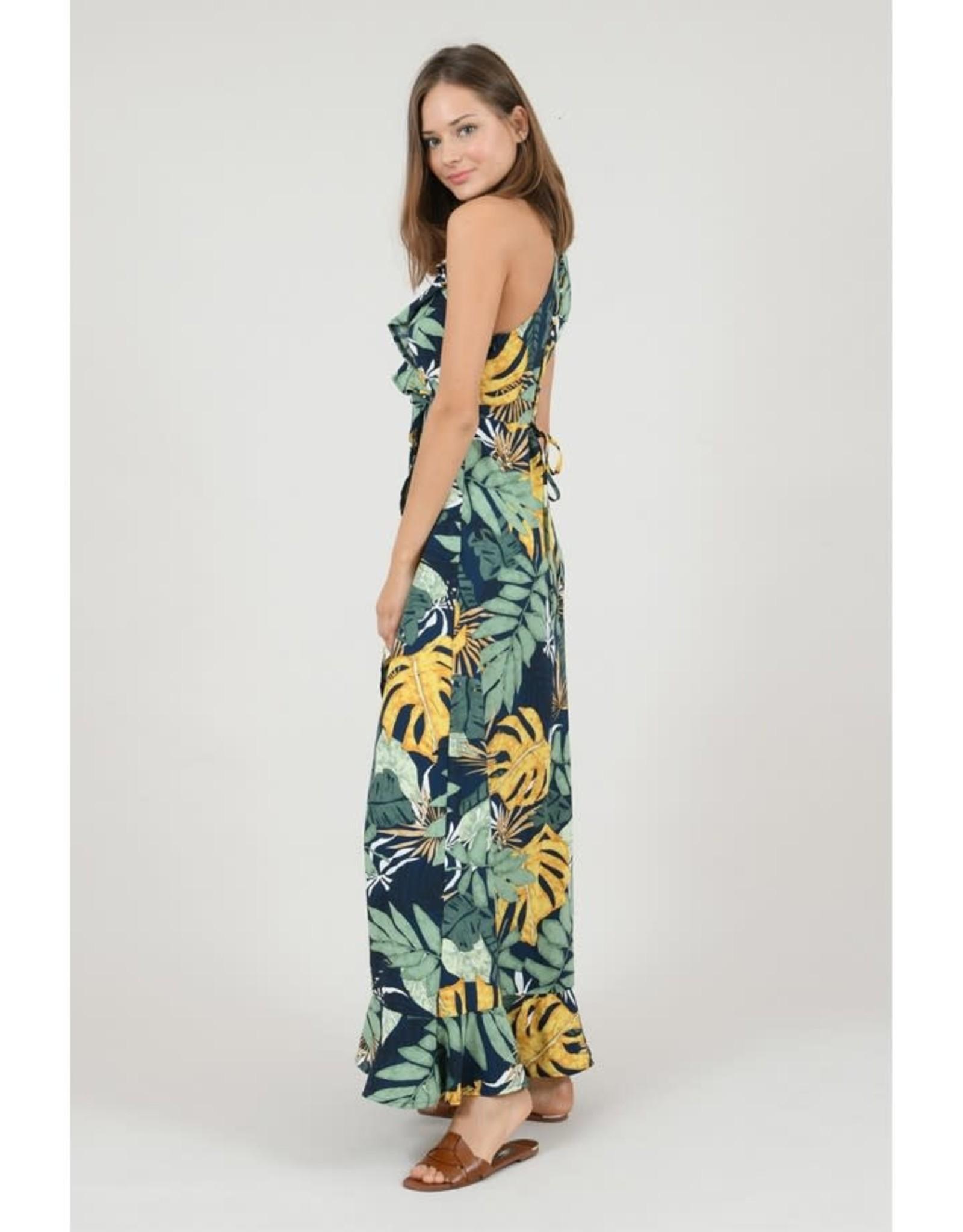 Molly Bracken Woven dress (tropical navy)