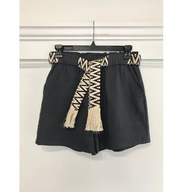 See You Soon See U Soon - Shorts with woven belt (gray)