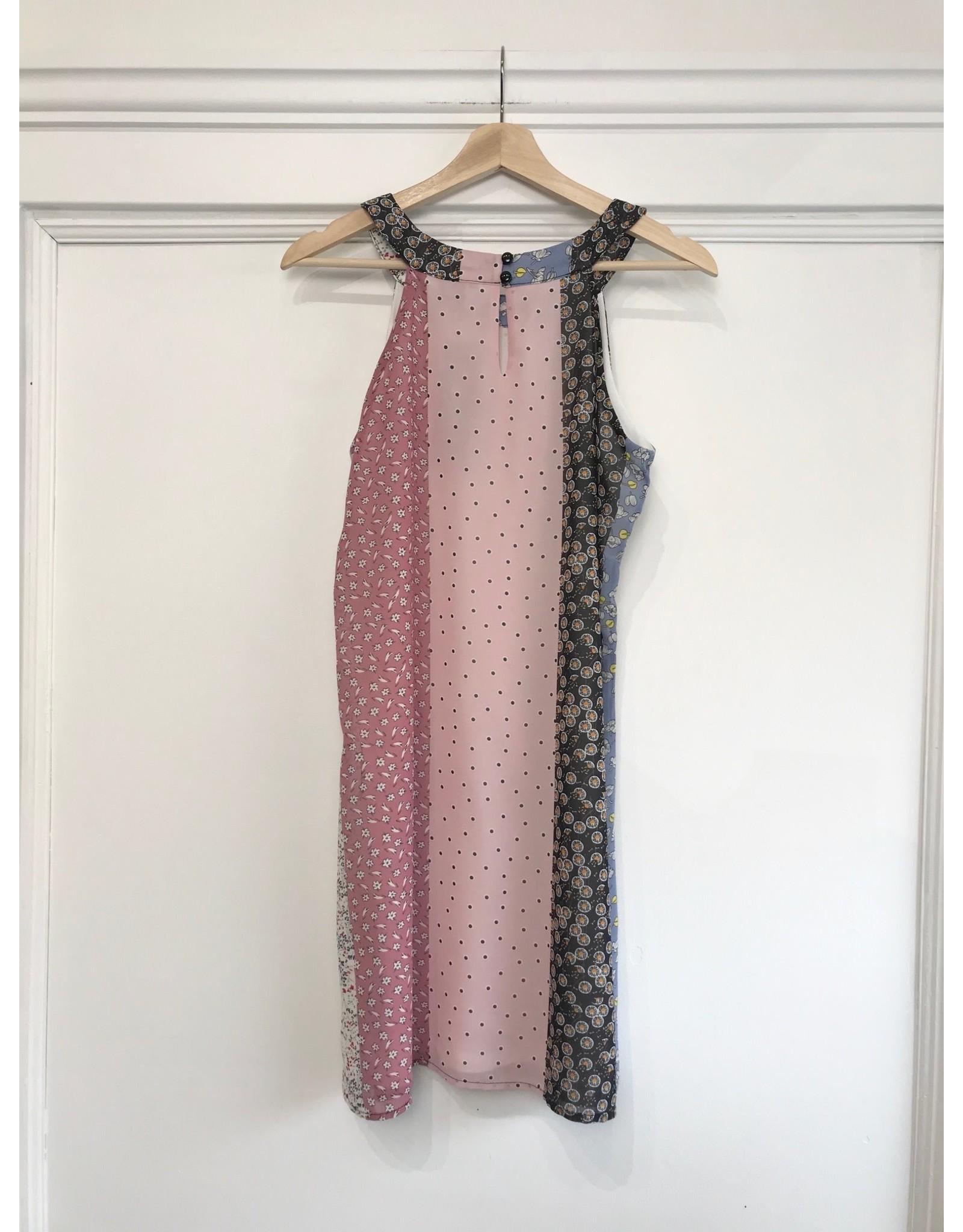 Papillon Patchwork print dress