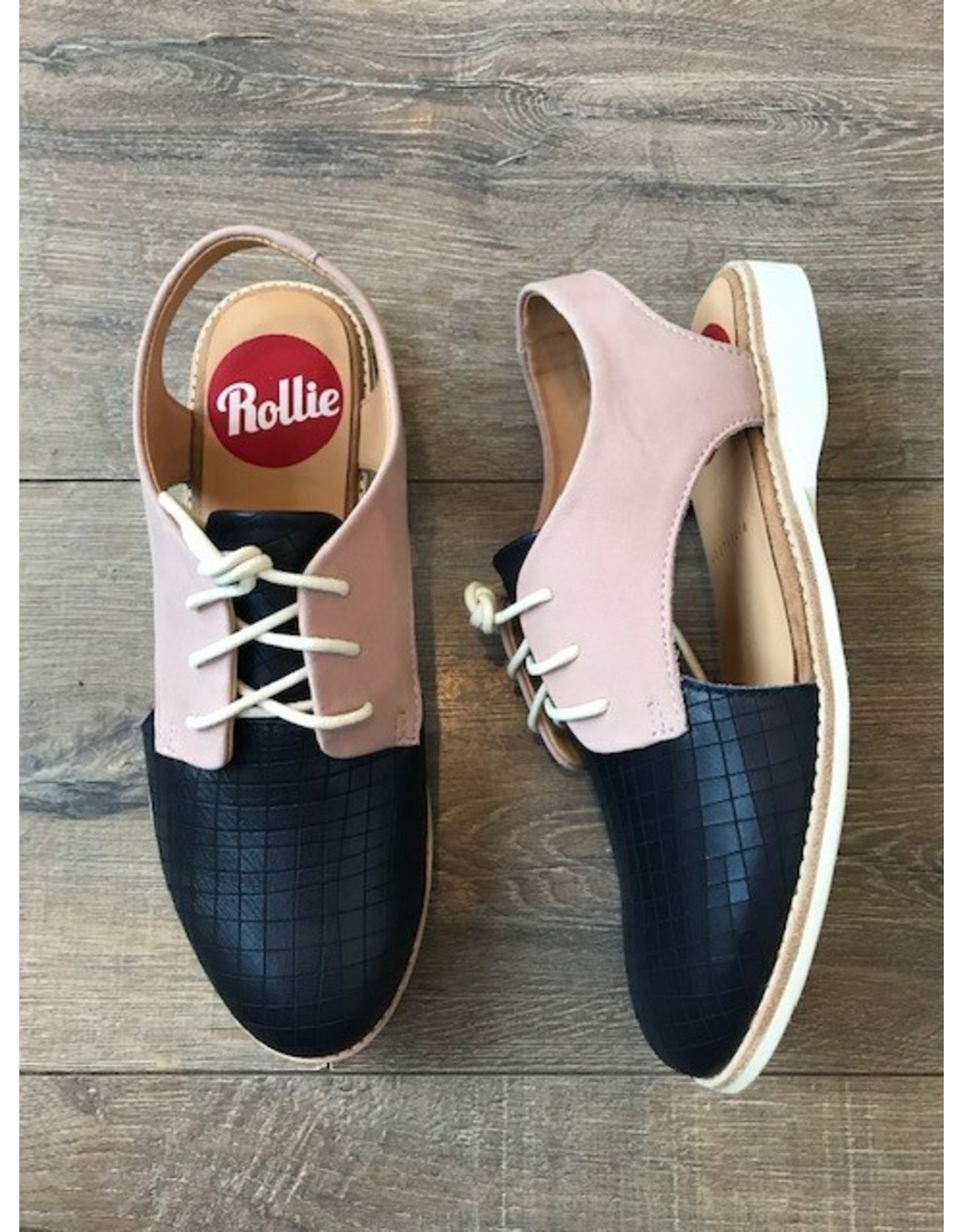 Rollie Shoes Rollie - Slingback (Navy scored / snow pink)