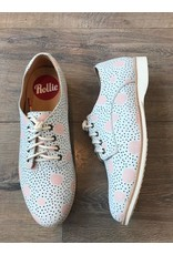 Rollie Shoes Rollie - Derby artistic dots (grey/pink)