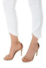 Liverpool Abby crop skinny with scallop hem (white)