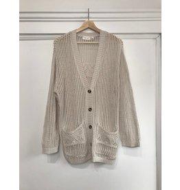 RD Style Ladies knit cardigan (pearl essence)