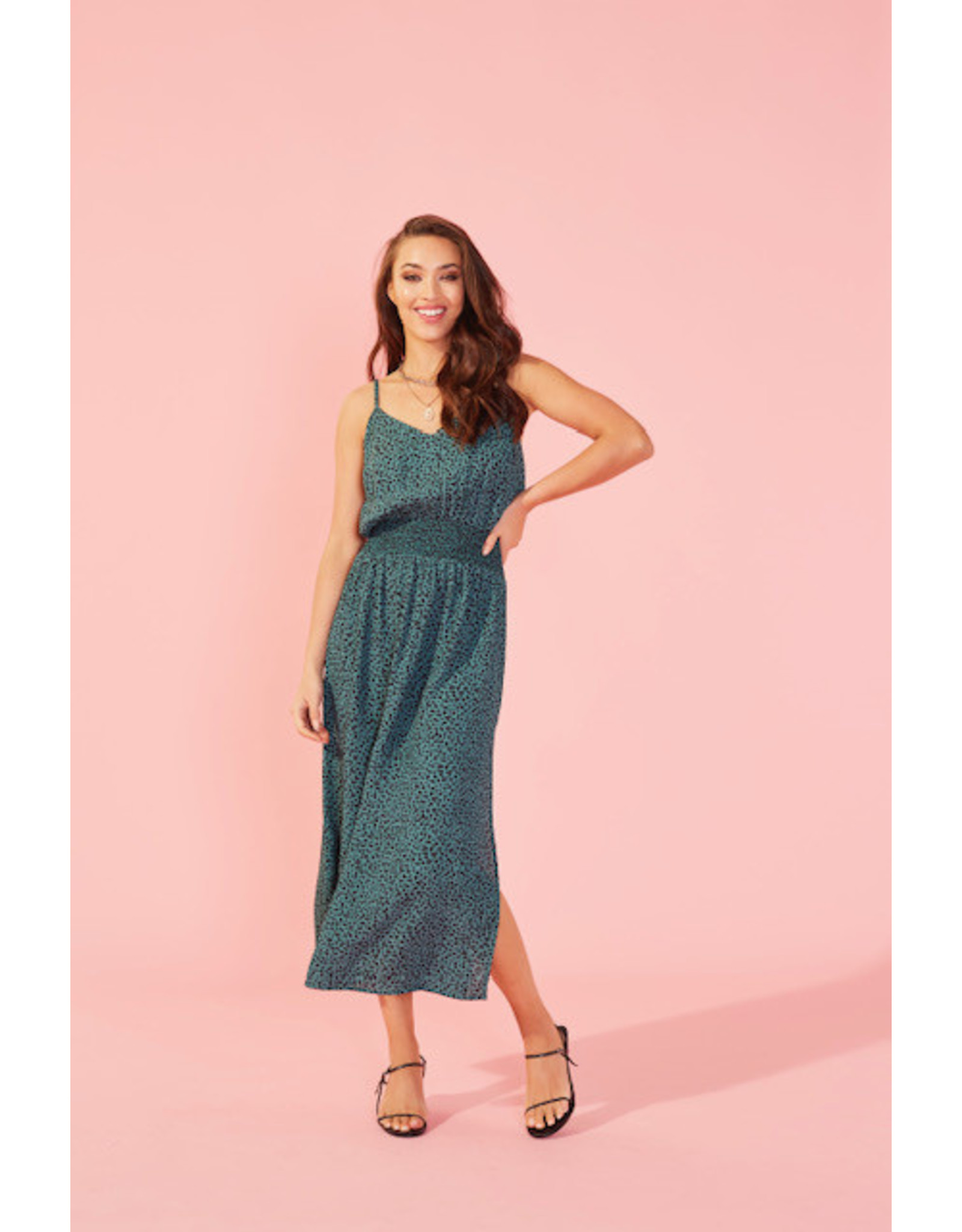 Mink Pink Eyes wide strappy midi dress