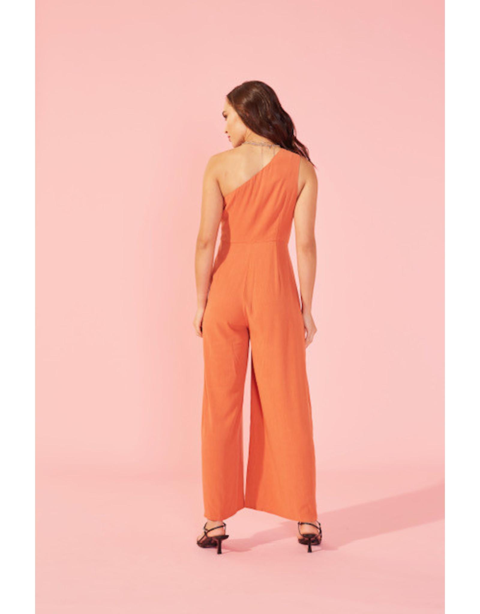Mink Pink Mink Pink - One shoulder jumpsuit (black)