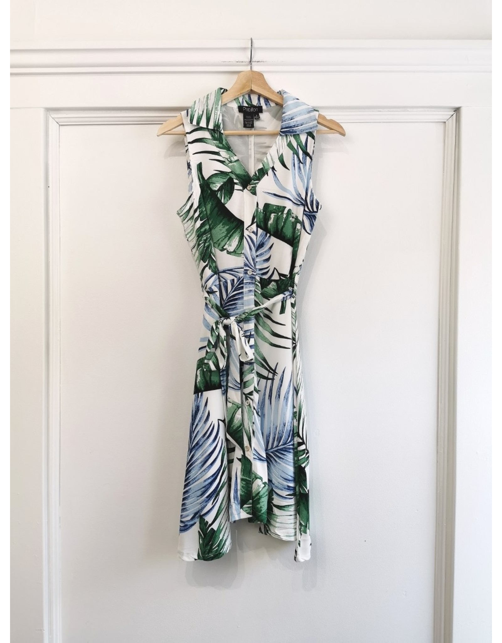 Papillon Papillon - Fern print collared dress