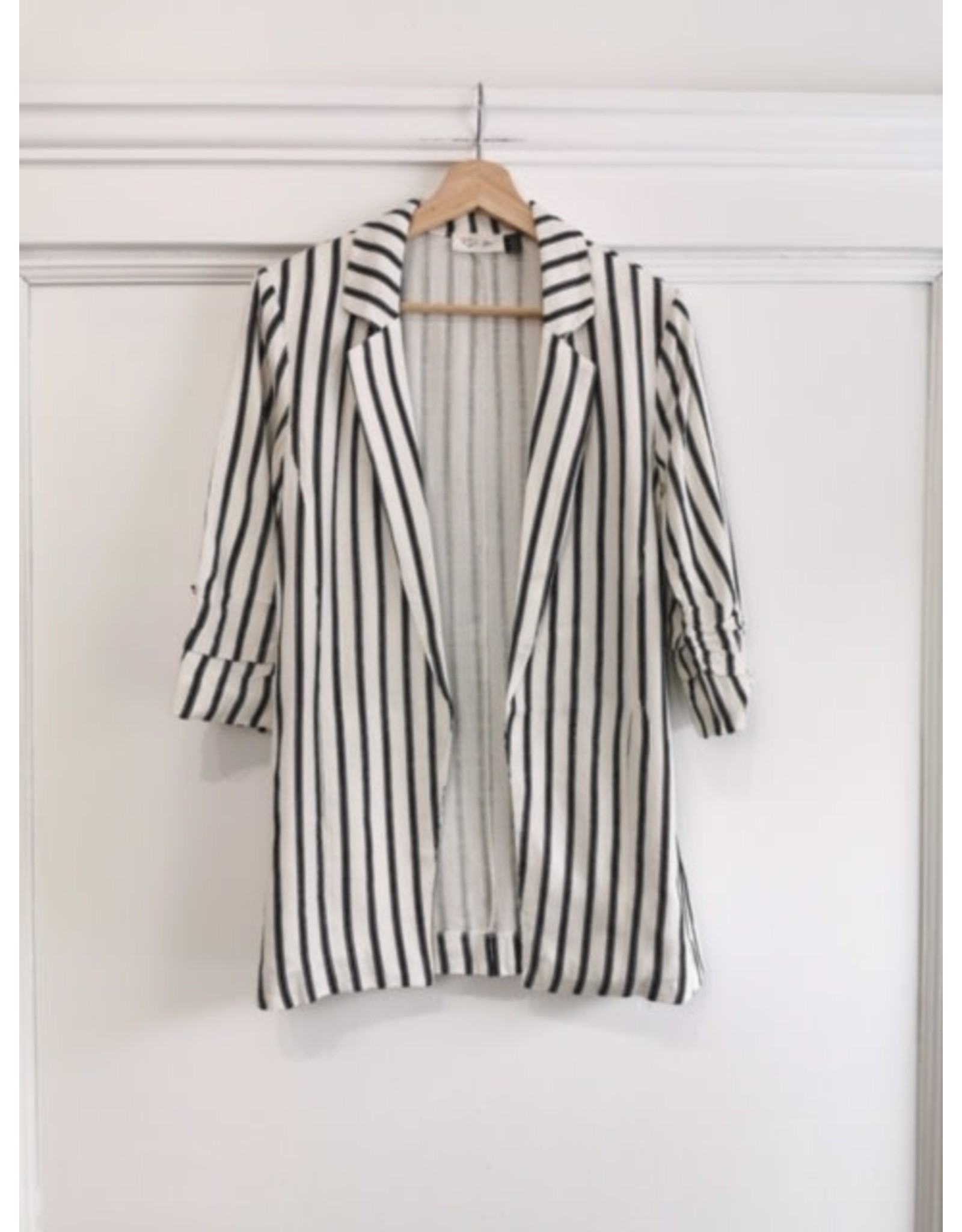 RD Style Woven blazer (black stripe)